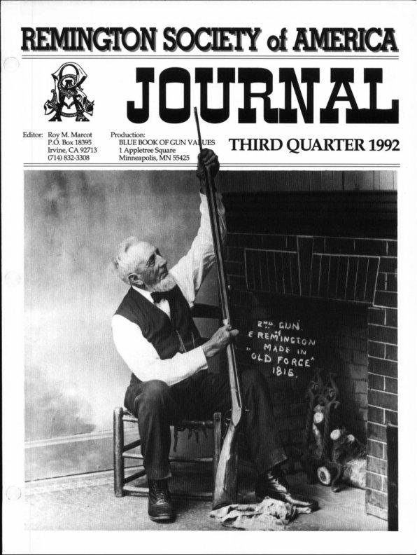 The 3rd Quarter 1992 RSA Journal