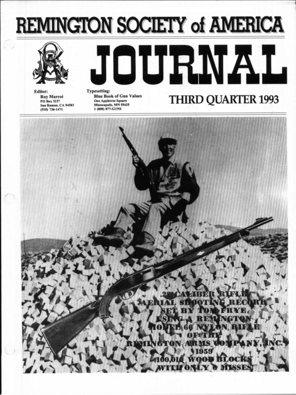 The 3rd Quarter 1993 RSA Journal