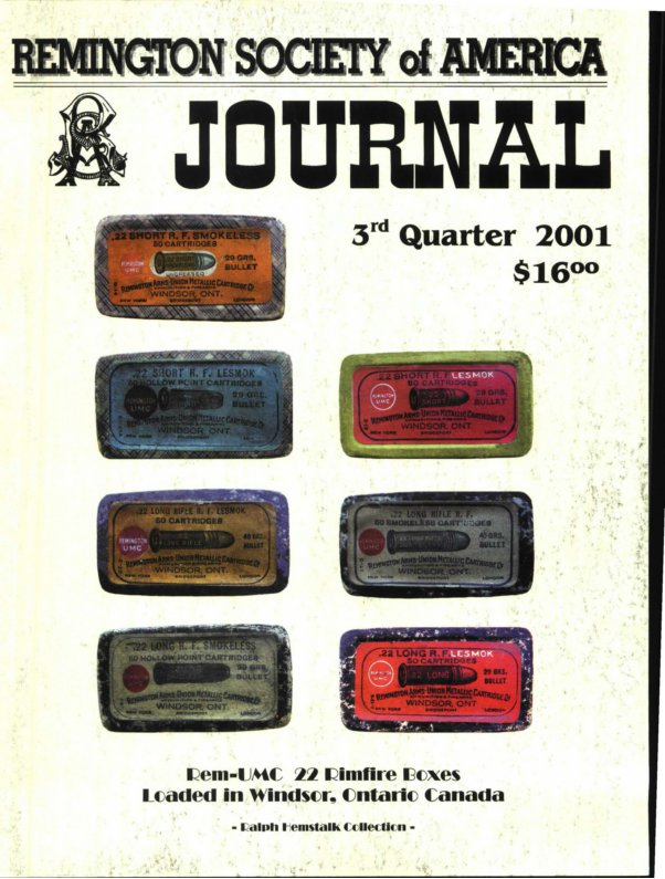 The 3rd Quarter 2001 RSA Journal