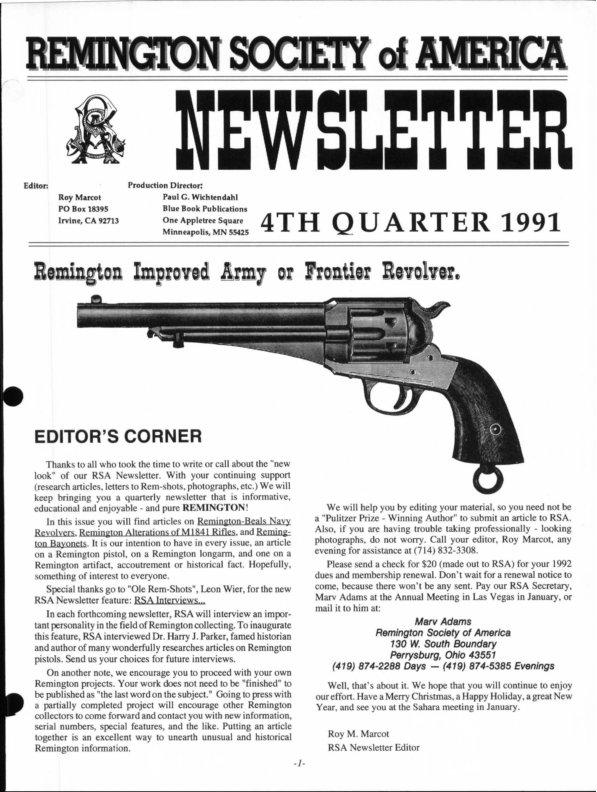 The 4th Quarter 1991 RSA Journal