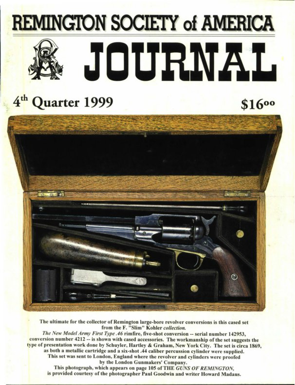 The 4th Quarter 1999 RSA Journal