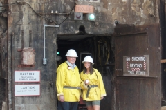 Bob and Kelsey at Queen Mine Entrance