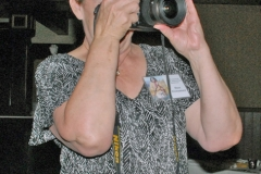 ZSue Creamer taking a photo - low res
