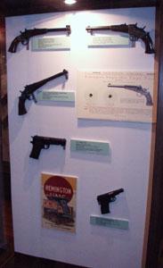 Remington rolling block pistols and autoloading pistols.