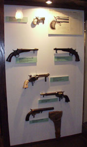 Remington derringers, single-shot pistols and revolvers.