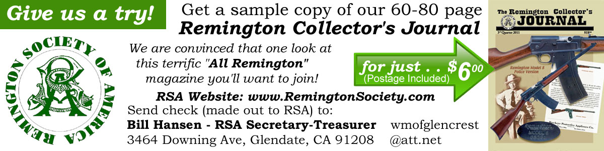 Manufacture Dates – Remington Society of America