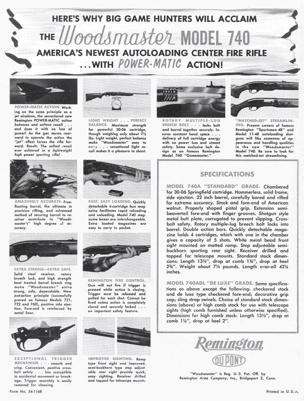 Remington Model 740, Model 742 and Model 7400 Autoloading