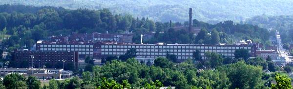 A panoramic view of Remington's Factory in Ilion New York