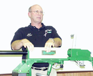 Paul Conrad, Remington Sales Rep for the Remington Industrial Gun.