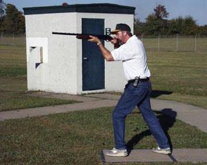 RSA VP George Slatter shows off his trap stance.