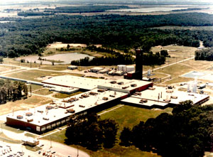 An aerial view of Remington's Ammunition Plant in Lonoke,Arkansas.