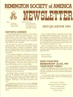 Photo of the Third Quarter 1991 Issue of the RSA Journal