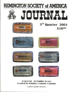 Photo of the Third Quarter 2001 Issue of the RSA Journal