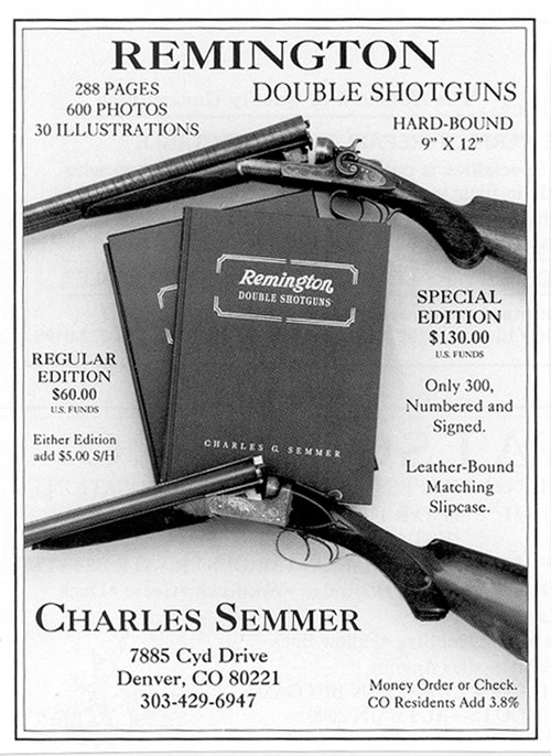 REMINGTON DOUBLE SHOTGUNS by Charles Semmer.