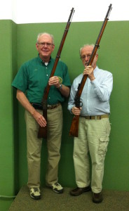Ed Hull (L) with original Remington Swedish rifle and Jim Howat (R) with Swedish made rifle.